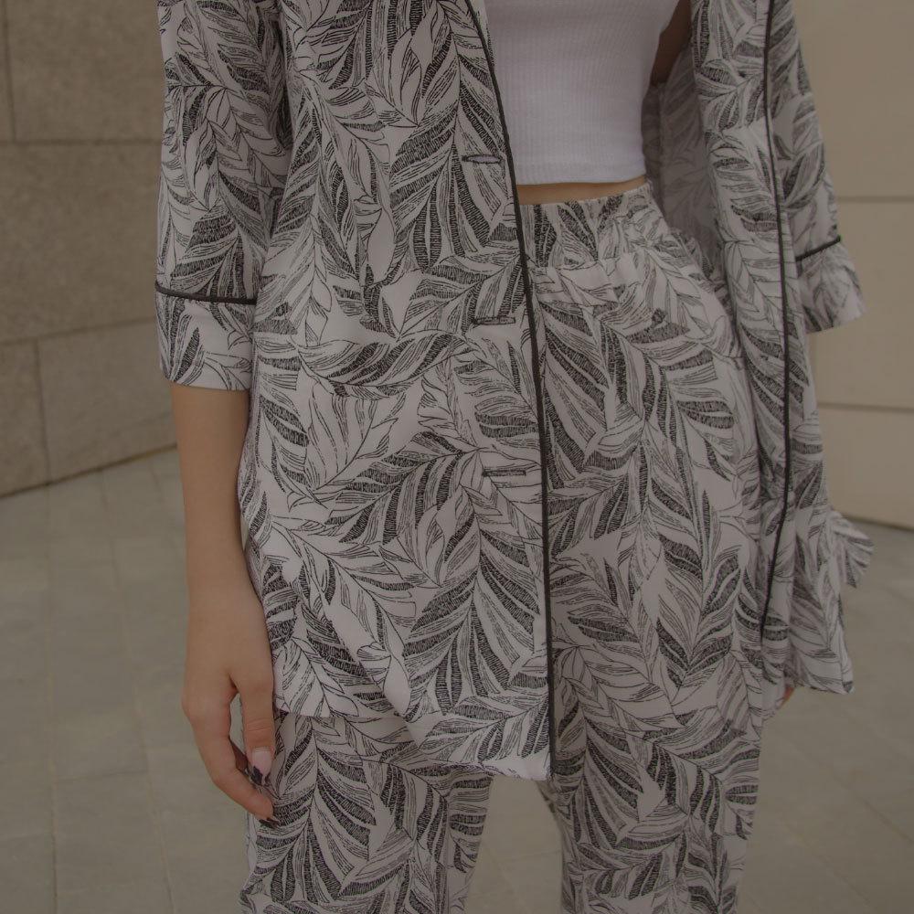 Підлітковий літній костюм в піжамному стилі