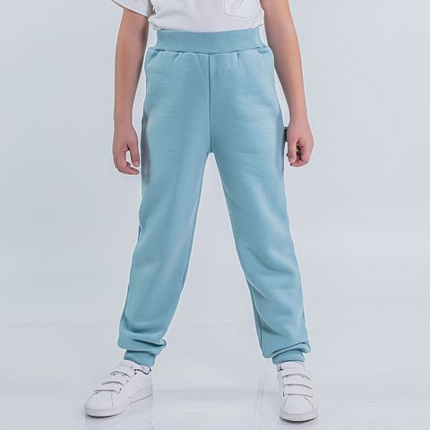 Warm trousers with pocket for teens - Sea Blue