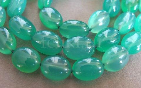 бусы из оникса зелёного (н-1017)