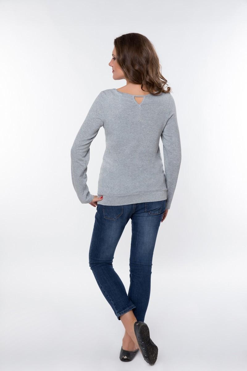 Джемпер для беременных 01837 серый