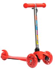 Трехколесный самокат для детей, материал - металл/пластик BIBITU  JAY SKL-06L, красный