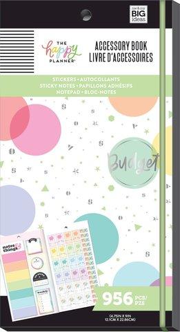 Блокнот со стикерами и стекерблоками Accessory Book - Budget - 956 шт