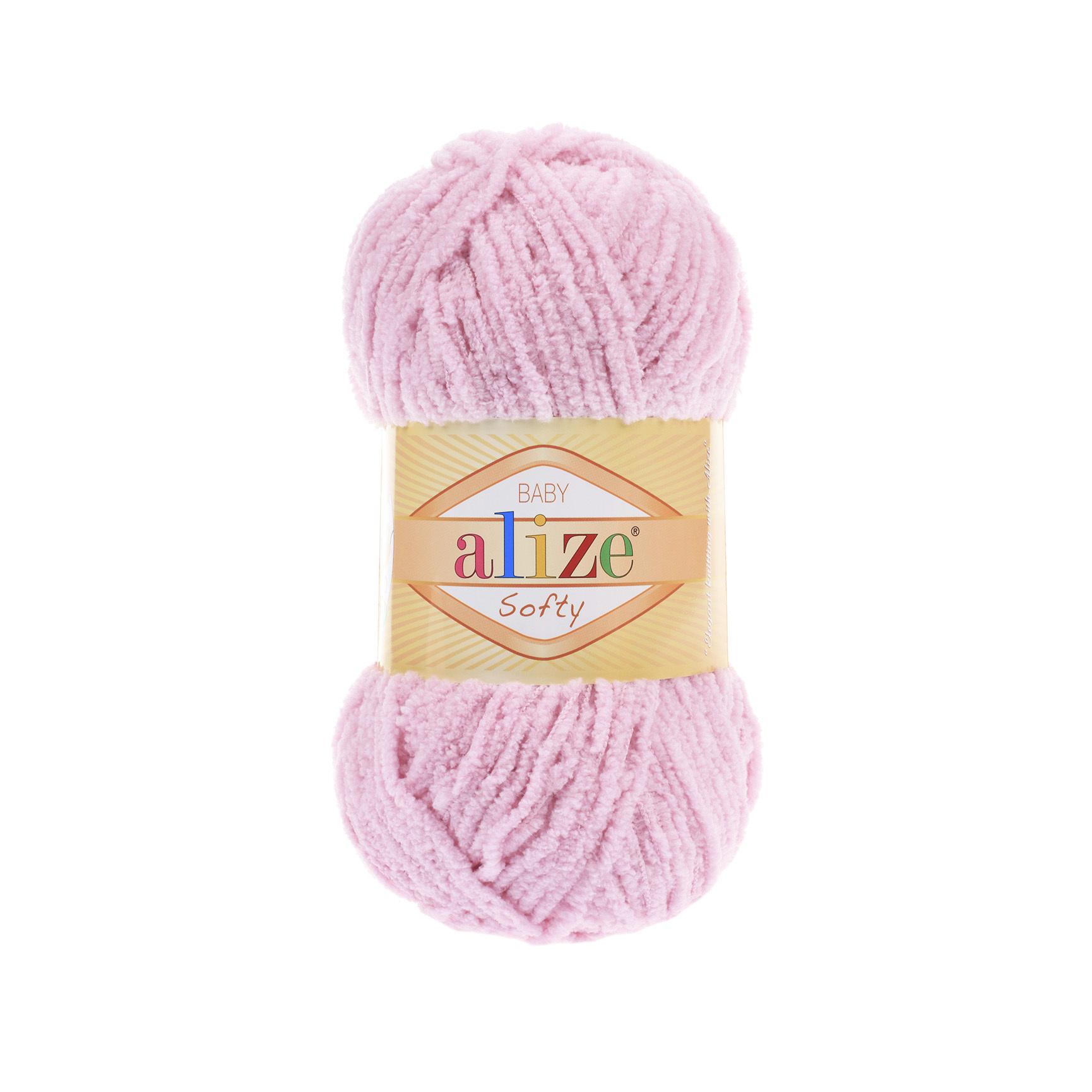 Пряжа Alize Softy розовый 98