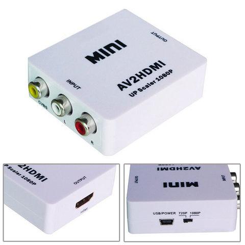 Конвертер (переходник) с AV (тюльпаны RCA) на HDMI Ardax AV2HDMI