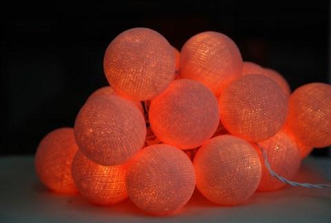 Хлопковый шарик лососевый