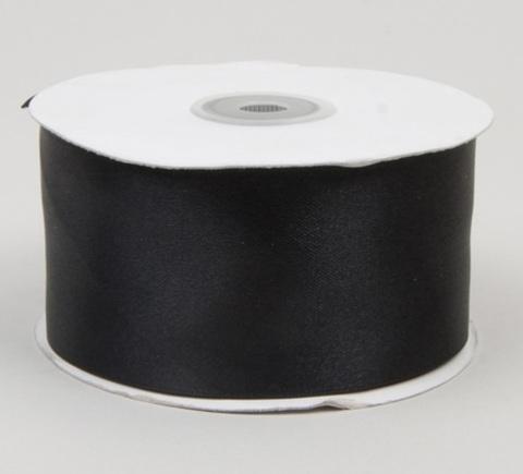 Лента атласная (размер: 50мм х 30м) Цвет:черная
