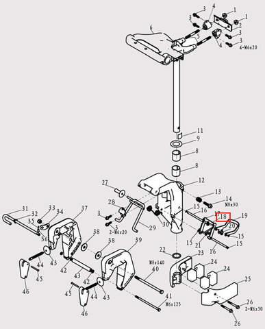 Пружина рамки для лодочного мотора F9.8 Sea-PRO (13-18)