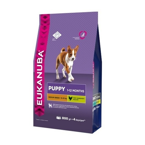 15 кг. EUKANUBA Сухой корм для щенков средних пород Puppy&Junior Medium Breed