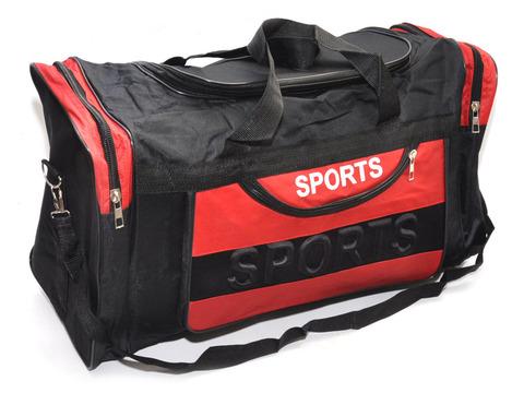 Сумка спортивная. Размер 55х35х25 см. Основной карман на молнии, дополнительный накладной карман сбоку, двумя торцевыми карманами, плечевой ремень. DY-702