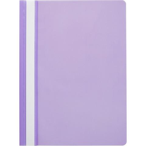 Скоросшиватель пластиковый Attache Economy A4 до 100 листов фиолетовый (толщина обложки 0.11 мм, 10 штук в упаковке)
