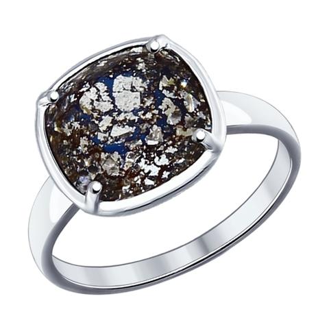 94012056 - Кольцо из серебра с чёрным кристаллом Swarovski