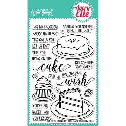 Комплект силиконовых штампов - Avery Elle Clear Stamp Set  10х15см - Bring On The Cake