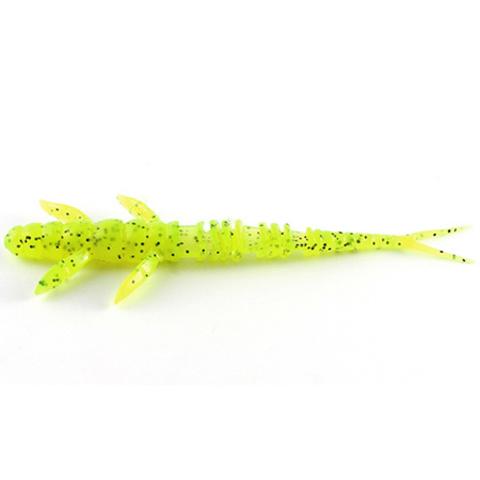 Силиконовая приманка FishUp Flit цвет № 055 - Chartreuse/Black