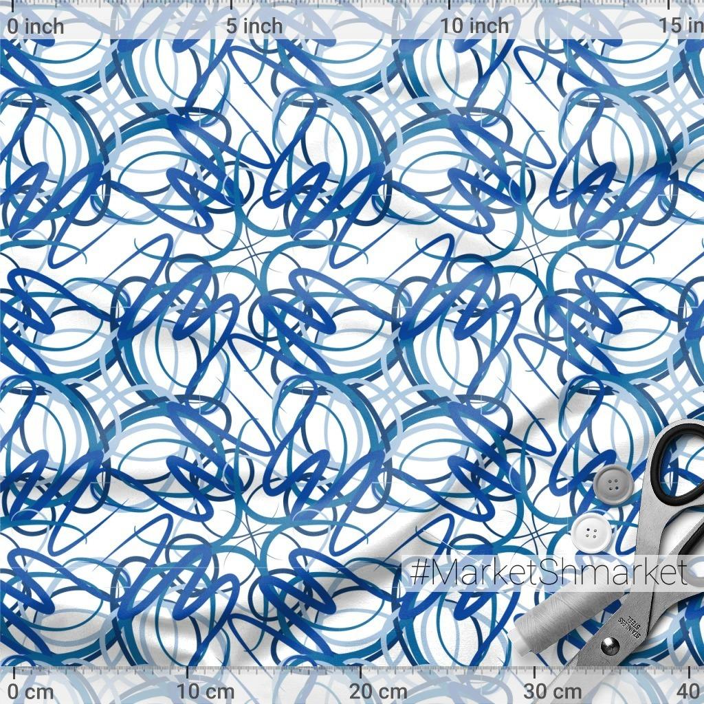 Синии линии - абстрактный паттерн