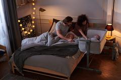 Кроватка приставная Kinderkraft Neste Up Grey Melange