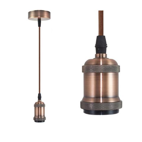 Подвесной светильник TDM Лофт Е27  1м медь