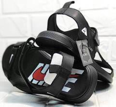 Босоножки nike сандалии кожаные мужские Nike 40-3 Leather Black.