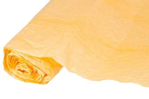 Бумага жатая эколюкс 70см х 5м оранжевая/золото 11G
