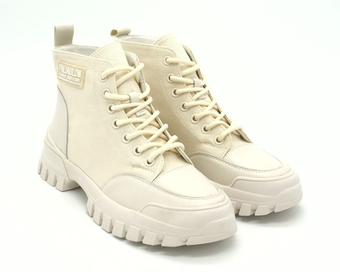 975х Ботинки белые комбин