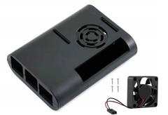 Овальный пластиковый корпус с вентилятором для Raspberry Pi 4