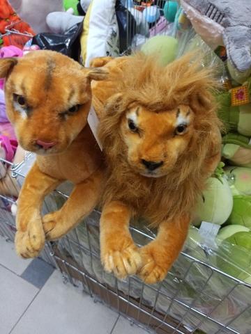 Лев и львица 30 см