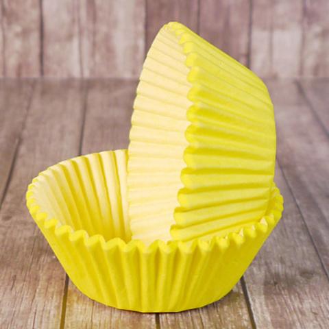 Капсулы для капкейков , желтые, 50*30 мм, 100 шт