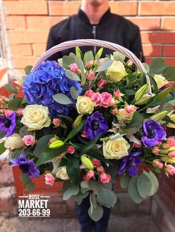 Цветы в корзинке #1804