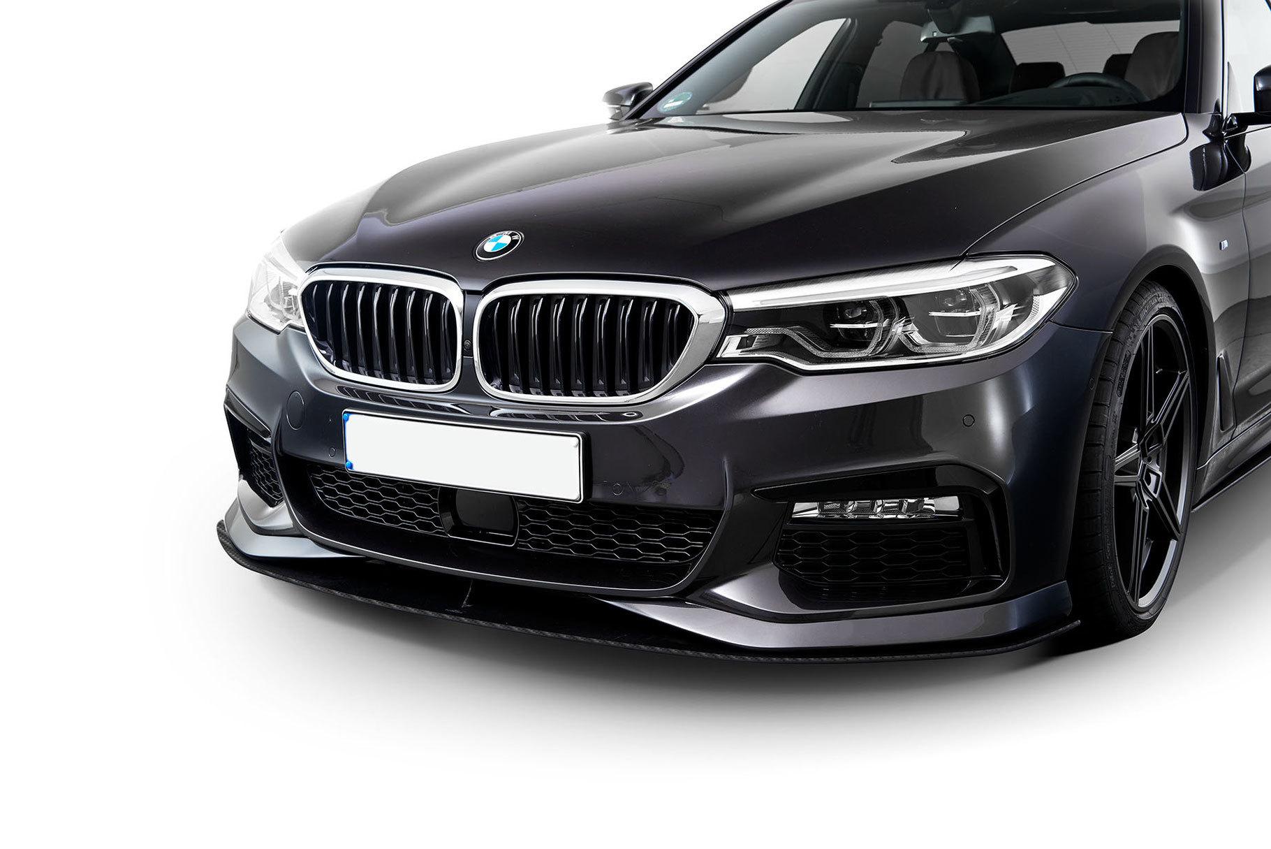 Карбоновый сплитер переднего  бампера  для BMW 5 G30