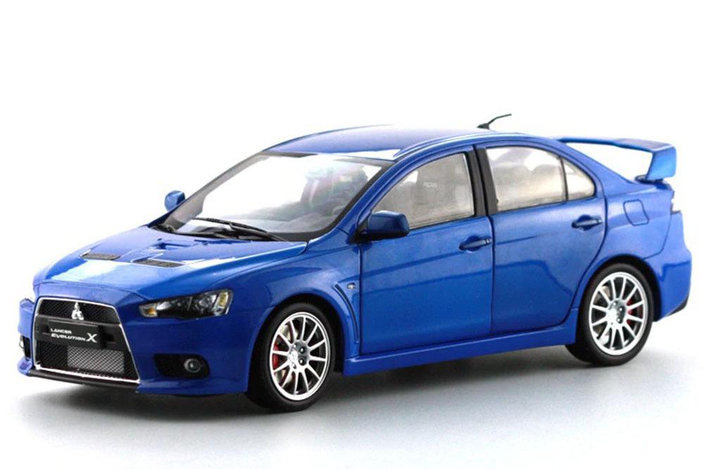 Коллекционная модель MITSUBISHI LANCER EVO X 2012 BLUE