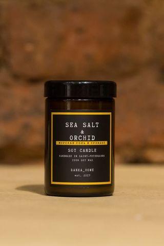 Соевая свеча Морская соль и орхидея - 100 мл