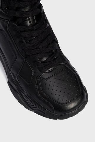 Женские черные кожаные хайтопы PRPY