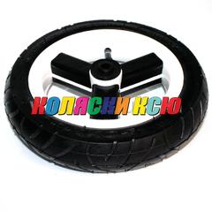 Колесо для детской коляски №003055 надув 10дюймов без вилки 50-160 (втулка на ось 10мм)