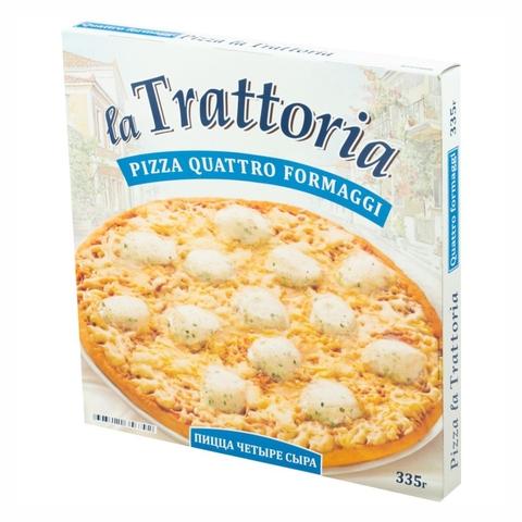 Пицца LA TRATTORIA 4 сыра 335 г Айсберг РОССИЯ