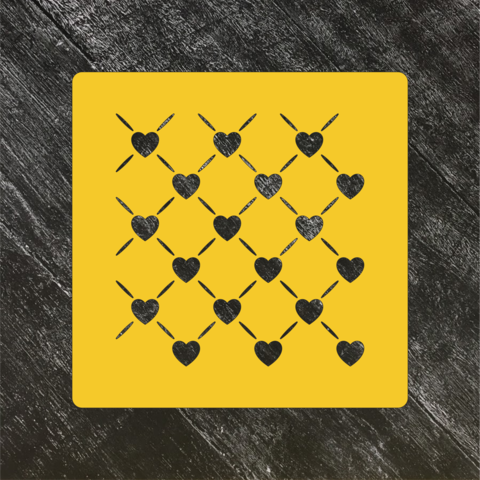 Трафарет-фон №6 Узор с сердцами