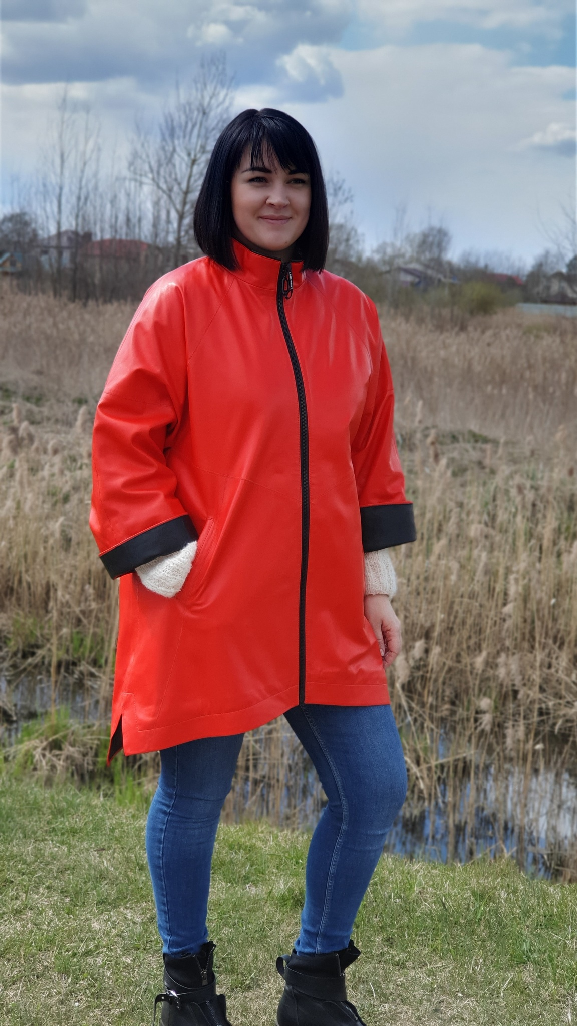 Куртка кожаная Lindi West