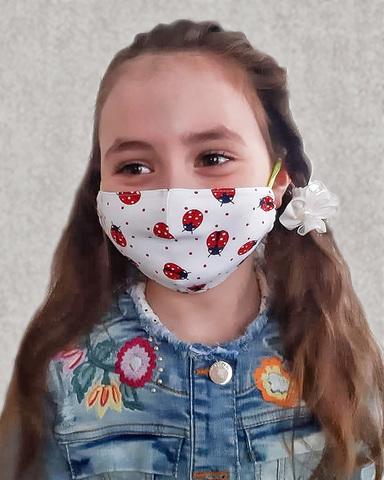 Хлопковая маска для детей «Божьи коровки»
