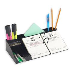 Подставка для перекидного календаря Uniplast Аврора черная (380x150x75 мм)