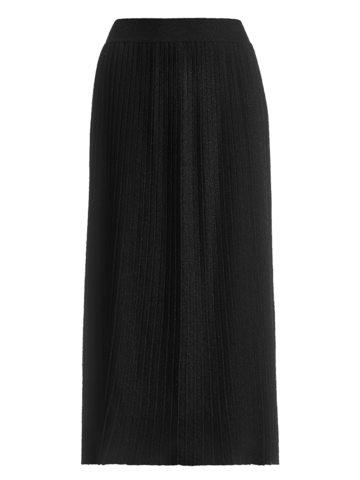 Женская юбка черного цвета из вискозы - фото 1