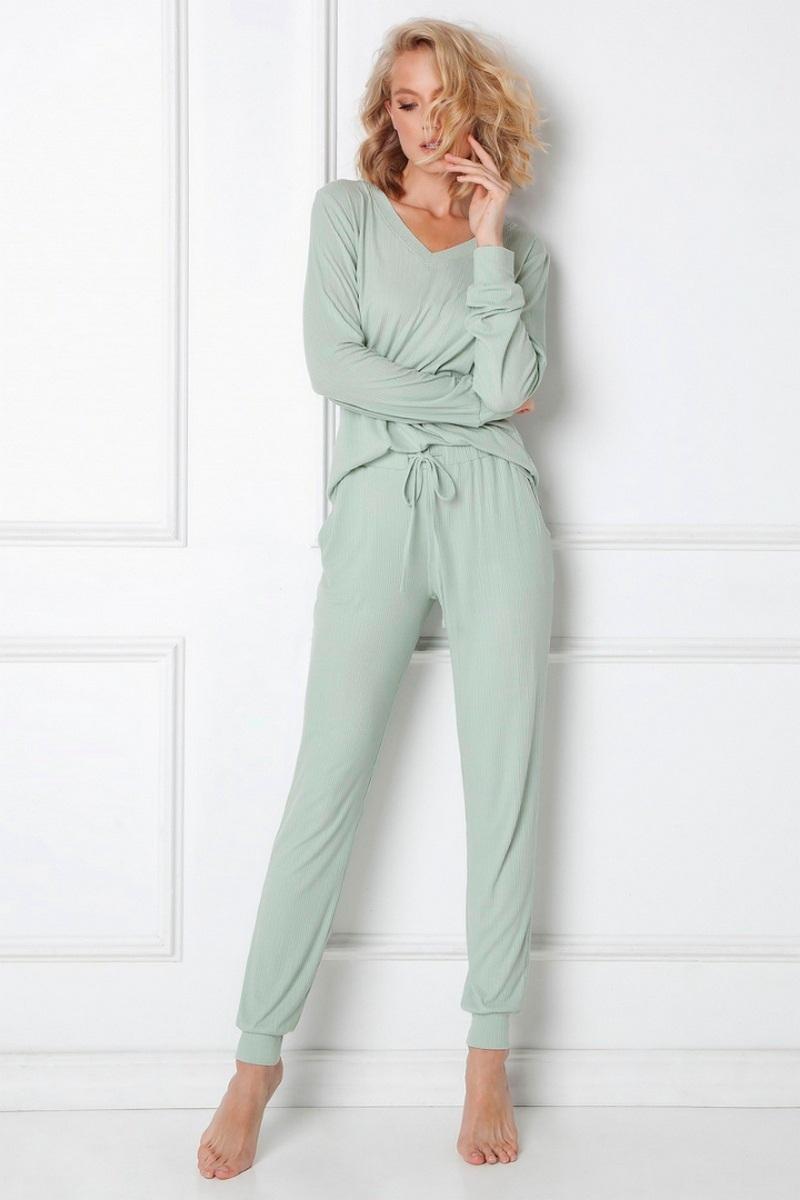 Комплект домашний женский со штанами ARUELLE TINA FOREST GREEN