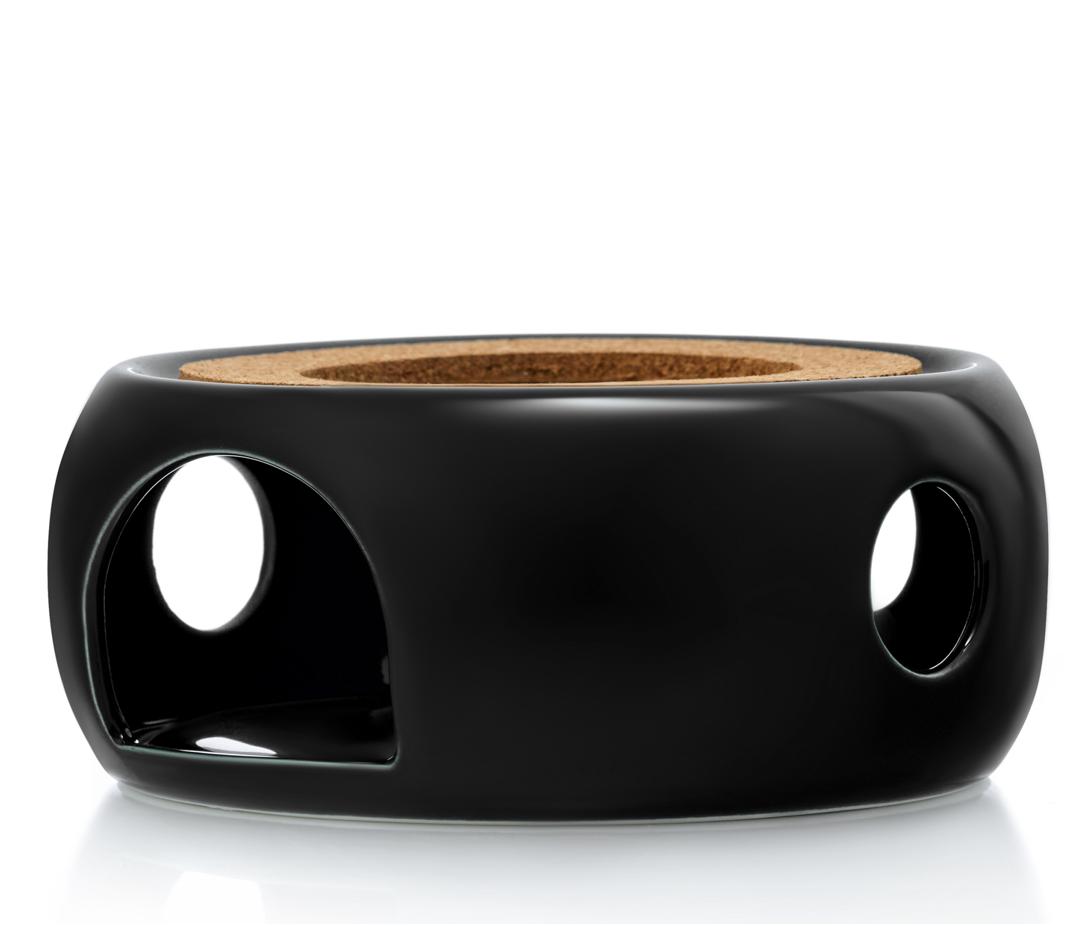 """Подставка для чайника Подставка-нагреватель """"Prometheus"""" для подогрева чайника свечой черная керамическая podstavka-podogrev-CH02SB-teastar.PNG"""