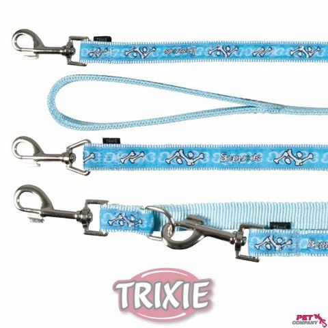 """Trixiе 15897 Поводок д/собак """"sроrtdog"""" голубой, нейлон 1м*20мм"""