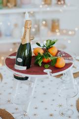 Складной столик для вина, винного оттенка, фото 2