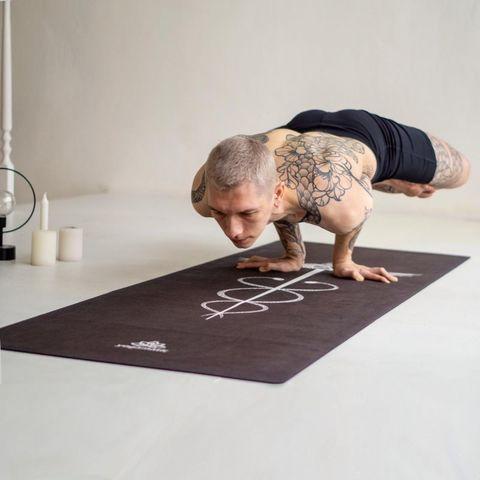 Коврик для йоги Caducei PRO из микрофибры и каучука,  200*68*0,3 см