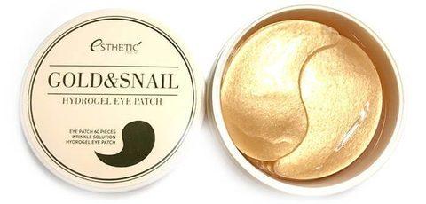 Гидрогелевые патчи для кожи вокруг глаз с золотом и муцином улитки Esthetic House