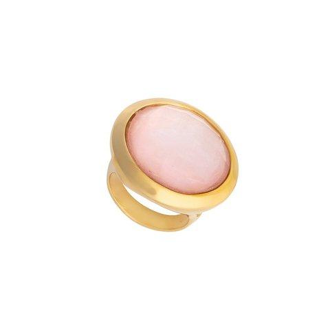 Кольцо pearl quartz rose 16.5 K9853.9/16.5 R/G