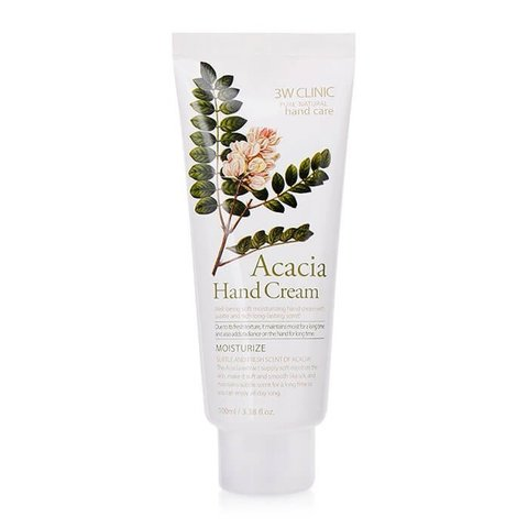 3W CLINIC Крем для рук увлажняющий с экстрактом АКАЦИИ Acacia Hand Cream, 100 мл