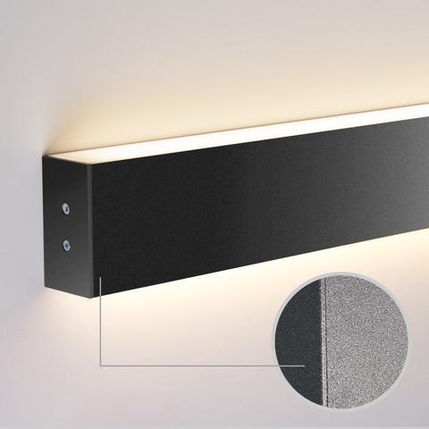 Линейный светодиодный накладной двусторонний светильник 103см 40Вт 4200К черная шагрень 100-100-40-103