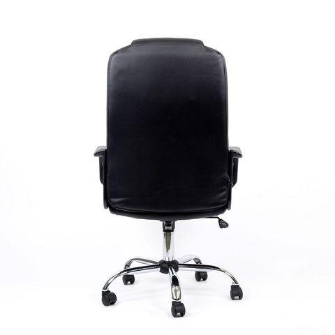 Кресло K-93 для персонала черная кожа