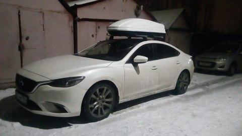 Автобокс Way-box 460 литров на крышу Mazda 6