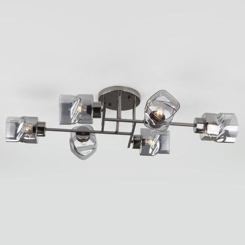 Потолочная люстра со стеклянными плафонами 30165/6 черный жемчуг